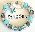 NEW Authentic PANDORA Sterling Silver BUTTERFLY BRACELET with European CHARM #49