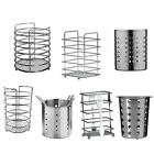 Chrome & Stainless Steel Kitchen Utensil Cutlery Holder Storage Jar