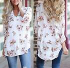 Fashion Women's Ladies Summer Floral Loose Tops Long Sleeve Shirt Casual Blouse фото