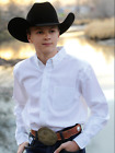 FAST SHIP!!! Cinch Youth Pinpoint Western Dress Shirt, White 4H Shirt MTW7060031