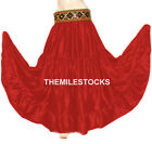 Red - TMS Satin 25 Yard 4 Tiered Skirt Belly Dance Gypsy Flamengo - 30 Color