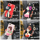 For iPhone 7 6s Plus 3D Girl Soft TPU Silicone Gel Pendant Shockproof Case Cover