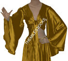 Gold TMS Satin Flair Wrap Top Tie Belly Dance Choli Gypsy Tribal 30 Color