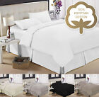 EGYPTIAN COTTON 200 THREAD COUNT DUVET QUILT COVER BEDDING SETS WITH PILLOW CASE
