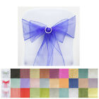 bows decoration - 25pc x Wholesale Sheer Organza Chair Sashes Tie Bows Catering Wedding Decoration