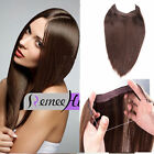 Halo Style  Remy Hair 100% Human Hair Extensions Invisible wire crown apply 80G