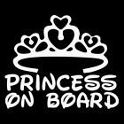 Decals Graphics Window PRINCESS ON BOARD Baby Car Sign Decal Stickers