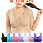 Seamless Fitness Yoga Sports Sleep Bra Women Crop Top Vest Nursing Bra Plus Size