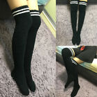 Women Warm Cable Knit Long Boot Socks Over Knee Thigh High School Girl Stocking