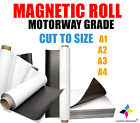 Self Adhesive Flexible Vinyl Magnetic Sheet Roll 0.85mm MOTORWAY GRADE Sticky