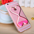 New Slim Soft Dynamic Bling Quicksand TPU Rubber Gel Back Case Cover For iPhone