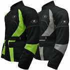 AQWA Mens Motorcycle Motorbike Long Jacket Waterproof Textile CE Armoured, GF