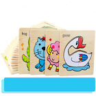 1pc Wooden 3D Puzzles Cartoon Animal Jigsaw  Kids Montessori Preschool Learning