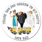 Personalised Custom Gloss Despicable Me 3 Birthday Stickers Party Bag Thank You