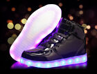 Boys Girls kids LED Light up Shoes Luminous Sneakers High top shoes Party Dance