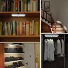 10 LED PIR Sensor Motion Kitchen Cabinet Light Battery Power with Magnetic Strip
