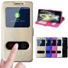 Popular View Window Stand Flip PU Leather Case Cover For Samsung A3 A5 A7 2017