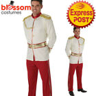 CA344 Prince Charming Mens Fancy Dress Disney Fairytale Book Week Adult Costume