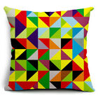 Bohemian Geometric Vintage Flower Linen Cotton Pillow Case Cushion Cover Decor
