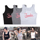 Women Summer Sports T Shirt Yoga Fitness Vest Tops Tank Padded Stretch Blouse