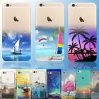 Clear Scape Ultra Thin Pattern Soft Silicone Case Cover For iPhone 6 6 Plus 5 5s