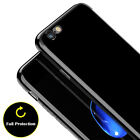 Glossy Thin Jet Black Silicone TPU Shockproof Case Cover for iPhone 7/6/6s Plus