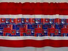 "New York Rangers NHL Hockey Red Pieced Valance Panel Choose:40"", 52"", 80"" x 13"" $24.0 USD on eBay"