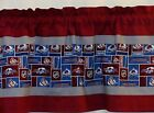 "Colorado Avalanche NHL Hockey Custom Valance Curtain Choose: 40"", 52"", 80"" x 13"" $24.0 USD on eBay"