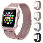 38mm/42mm Mesh Magnetic Wrist Band with Metal Protective Case for Apple Watch