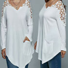 New Women Summer Lace Blouse Top Long Sleeve Blouse Casual Plus Size T-Shirt Tee