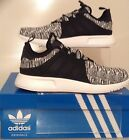 AUTHENTIC ADIDAS X_PLR TRAINERS BLACK-WHITE KNIT [BB2899] SIZES FROM UK 6 - 9.5
