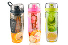 Fruit Fuzer Infusing Infuser Clear Water Bottle Sports Health Juice Maker 950 ML