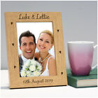 Engraved Wood Photo Frame Wedding Anniversary Gifts Presents 1st First 5th Fifth