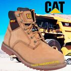 MEN TRK CATERPILLAR SAFETY WORK BOOTS LEATHER SHOES CAT STEEL TOE CAP