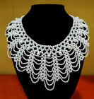 white pearl Bead Tassels Detachable False Collar Necklace