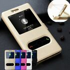 Glossy Shockproof Flip PU Leather Stand Holder Case Cover For iPhone SE 5 6 7 8