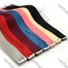 Tape In Skin Soft 100% Real Human Hair Extensions Seamless AAAA Wholesale 16-26""
