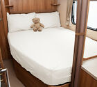 Auto-Trail Frontier Cherokee Motorhome Fitted Sheet - Ivory, White, Walnut Whip