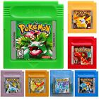 GameBoy Color Pokemon Games Cards For G*/G*C/G*A/SP Xmas Gifts 7 Version Color