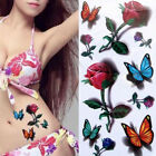 Temporary Tattoos for Women Body Art Tattoo Sticker 3d Butterfly Flower Tatoo