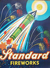 RETRO METAL PLAQUE Standerd Fireworks!Rockets  sign/ad