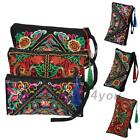 Colorful Embroidered Bags Ethnic Embroidery Wallet Purse Coin Handbag Tassels