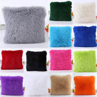Winter Fur Plush Square Throw Pillow Case Sofa Waist Cushion Cover Home Decor
