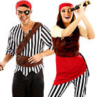 First Mate Adults Fancy Dress Caribbean Pirate Buccaneer Mens Womens Costumes