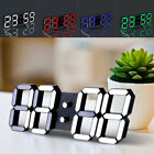 Modern Digital LED Table Desk Night Wall Clock Alarm 24/12 Hour Display Snooze