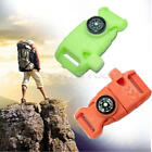 1Pcs Side Release Buckle Flint Fire Starter with Compass For Paracord Bracelet