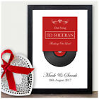First Dance Record Print - 40th Ruby Anniversary Gift Forty Wedding Anniversary