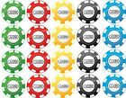 20 Precut Icing Casino Poker Chips 3cm Cupcake Toppers Men's Birthday Cakes