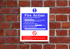 Fire Action HSE sign Health & Safety FA18 25cm x 30cm sign or sticker