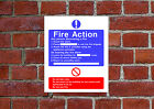 Fire Action HSE sign Health & Safety FA03 25cm x 30cm sign or sticker